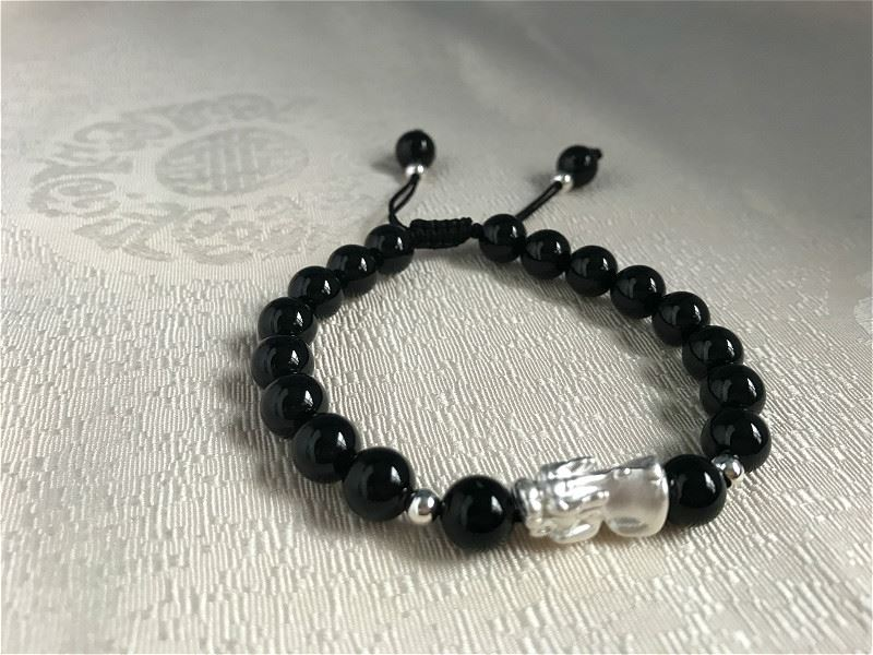 Black Agate 925 Silver Pi Xiu