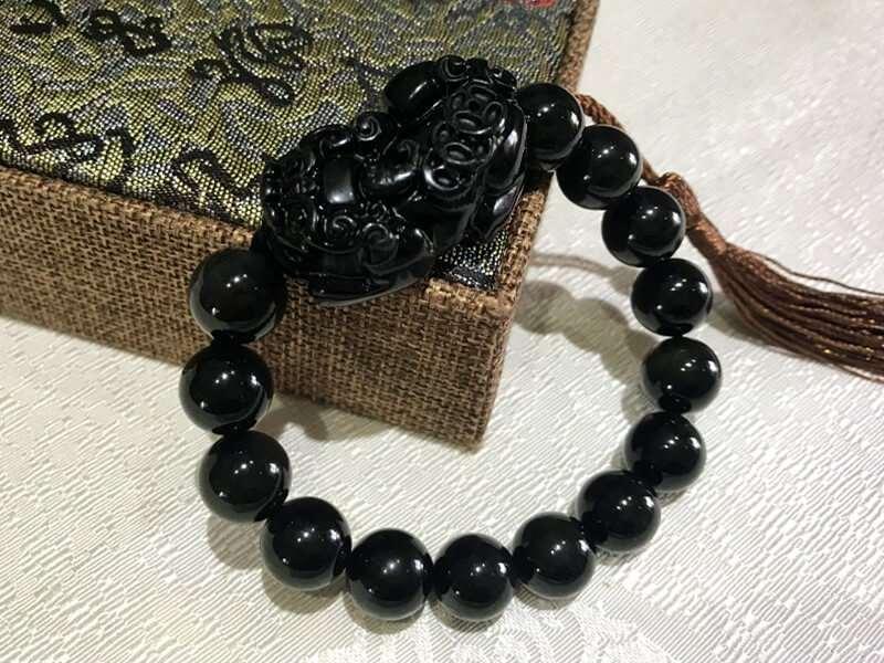 12mm Black Obsidian for Man [+$1.00]