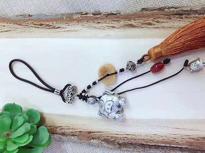 Picture of Pig Zodiac Car Pendant Handicraft, Car/Bag Pendant for Woman Good Luck 2019 Year of Pig